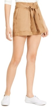 Vanilla Star Juniors' Belted Cuffed Shorts