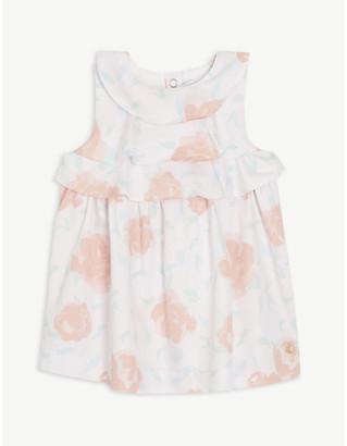 Petit Bateau Ruffled floral cotton dress 6-36 months