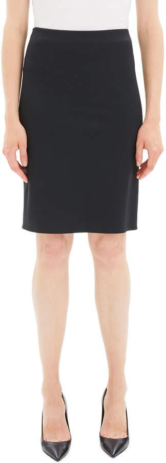 Theory Knit Knee-Length Pencil Skirt