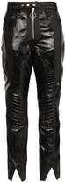 Marques Almeida High-Waist Biker-Style Trousers