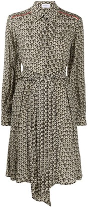 Salvatore Ferragamo Papavero print shirt dress