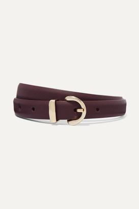 Andersons Leather Belt - Burgundy