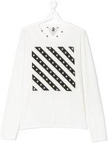 Macchia J striped print sweatshirt
