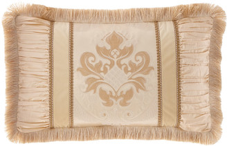 Dian Austin Couture Home Deluxe Pieced Oblong Pillow with Fringe