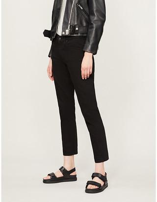 AG Jeans Summer Ladies Black Ex Boyfriend Slim Fit Straight High Rise Jeans