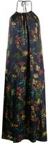 Societe Anonyme halter neck floral print shift dress
