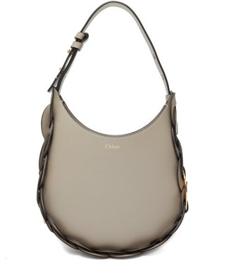 Chloé Darryl Medium Leather Shoulder Bag - Grey