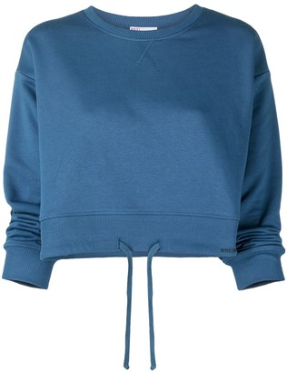 RED Valentino Cropped Drawstring Hem Sweatshirt