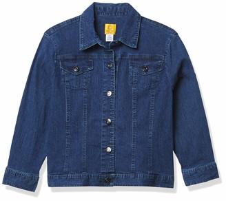 Ruby Rd. Women's Petite Extra-Stretch Denim Jacket