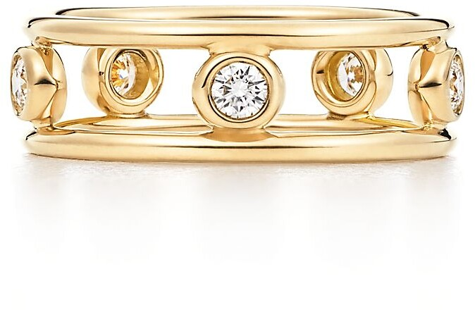 Tiffany & Co. Elsa Peretti Diamonds by the Yard ring in 18c gold with diamonds