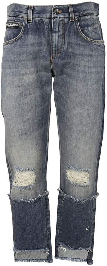 Dolce & Gabbana Deconstructed Jeans