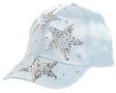 Capelli of New York Girl's Crystal Star Satin Ball Cap - Blue