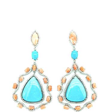 Arthur Marder Fine Jewelry Silver 2.10 Ct. Tw. Diamond & Gemstone Earrings
