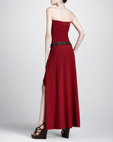 Michael Kors Strapless Coverup Maxi Dress, Cinnabar