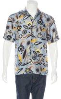 Fendi Floral Print Silk Shirt