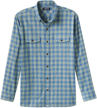 Lands' End Men's Traditional-Fit Comfort-First Lightweight Plaid Flannel Button-Down Shirt