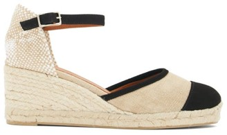 Castaner Caeli 60 Espadrille Wedge Sandals - Black Beige