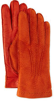 Italguanto Cashmere-Lined Capybara Leather Gloves