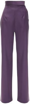 MATÉRIEL Cool Wool Wide Leg Pants W/ Side Buttons