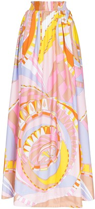 Emilio Pucci Wally graphic-print skirt