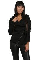 Nicole Miller Combo Sleeve Jacket in Black