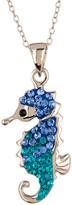 Candela Sterling Silver Swarovski Crystal Seahorse Pendant Necklace