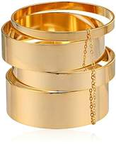a.v. max Four-Piece -Plated Brass Wide Bangle Bracelet