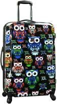 "Traveler's Choice Colorful Owl 29"" Hardside Expandable Spinner Luggage"