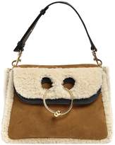 J.W.Anderson Medium Pierce Shearling & Suede Bag