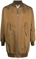 Barena zipped long bomber jacket