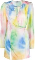 ATTICO The Lauren tie-dye mini dress