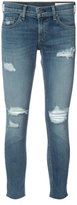 Rag & Bone Jean - skinny cropped jeans - women - Cotton/Polyurethane - 24