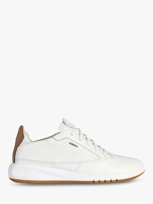 Geox Aerantis Leather Trainers, White