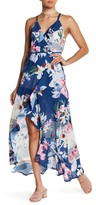 Flying Tomato Floral Wrap Maxi Dress