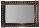 Fine Crafts & Imports Big Brown Orizaba Tile Talavera Tin Mirror