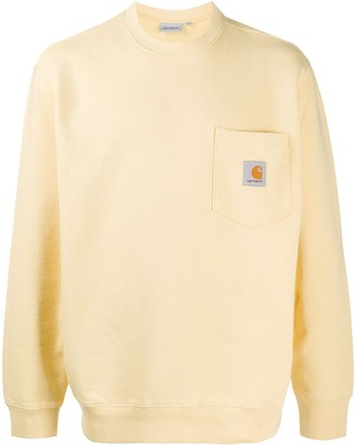 Carhartt Wip Logo Patch Chest Pocket Sweatshirt