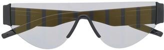 Puma Flat-Top Logo-Print Sunglasses
