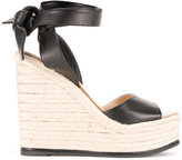 Paul Andrew ankle length braided sandals - women - Lamb Skin - 38