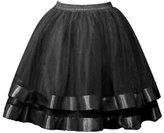 SK Studio Women's Short Petticoat Elastic Waistband Tutu Tulle Mini Skirt