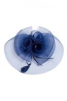 Quiz Navy Rose Large Facinator