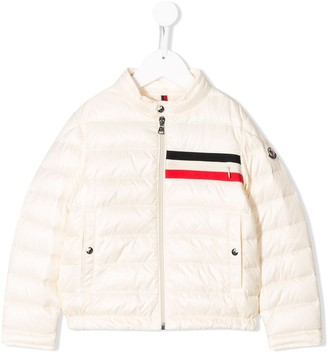 Moncler Enfant Striped Panel Padded Jacket