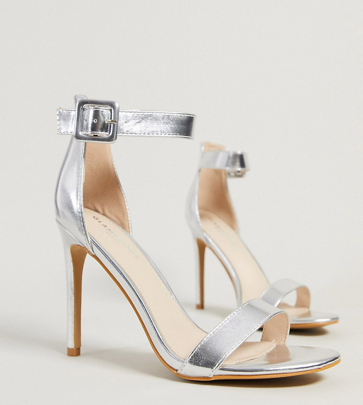 Silver Wide Fit Shoes | Shop the world