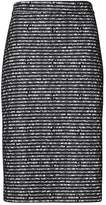 Banana Republic Stripe Lace Knit Pencil Skirt
