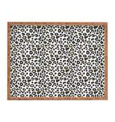 Deny Designs Dash and Ash Leopard Heart Rectangle Wood Tray
