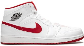 Jordan Air 1 Mid white gym red