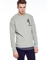 Religion Praying Skeleton Sweatshirt Grey