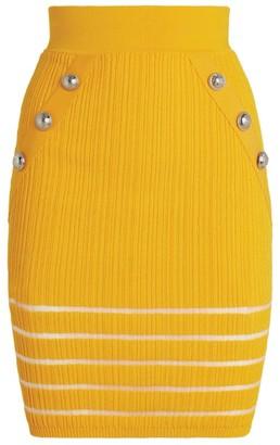 Balmain Openwork Knit Skirt