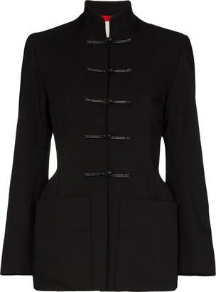Samuel Guì Yang Mandarin Collar Twill Jacket