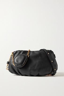 THE VOLON Gabi Leather Shoulder Bag - Black