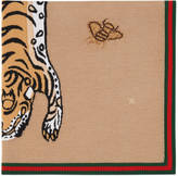 Gucci Knitted tiger baby blanket
